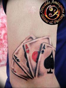 фото тату 4 туза от 30.09.2017 №009 - tattoo 4 aces - tattoo-photo.ru