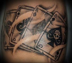 фото тату 4 туза от 30.09.2017 №014 - tattoo 4 aces - tattoo-photo.ru