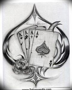 фото тату 4 туза от 30.09.2017 №015 - tattoo 4 aces - tattoo-photo.ru