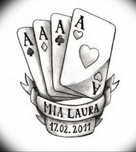 фото тату 4 туза от 30.09.2017 №017 - tattoo 4 aces - tattoo-photo.ru