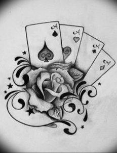 фото тату 4 туза от 30.09.2017 №023 - tattoo 4 aces - tattoo-photo.ru