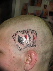 фото тату 4 туза от 30.09.2017 №025 - tattoo 4 aces - tattoo-photo.ru