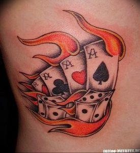 фото тату 4 туза от 30.09.2017 №027 - tattoo 4 aces - tattoo-photo.ru