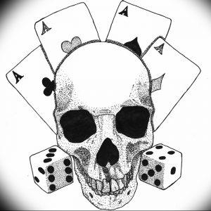 фото тату 4 туза от 30.09.2017 №033 - tattoo 4 aces - tattoo-photo.ru