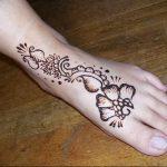фото Мехенди на ноге от 24.10.2017 №004 - Mehendi on foot - tattoo-photo.ru