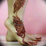 фото Мехенди на ноге от 24.10.2017 №006 - Mehendi on foot - tattoo-photo.ru