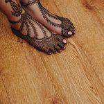 фото Мехенди на ноге от 24.10.2017 №007 - Mehendi on foot - tattoo-photo.ru