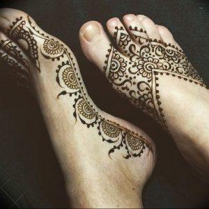 фото Мехенди на ноге от 24.10.2017 №010 - Mehendi on foot - tattoo-photo.ru