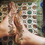 фото Мехенди на ноге от 24.10.2017 №011 - Mehendi on foot - tattoo-photo.ru