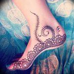 фото Мехенди на ноге от 24.10.2017 №016 - Mehendi on foot - tattoo-photo.ru