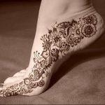 фото Мехенди на ноге от 24.10.2017 №017 - Mehendi on foot - tattoo-photo.ru