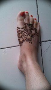 фото Мехенди на ноге от 24.10.2017 №018 - Mehendi on foot - tattoo-photo.ru