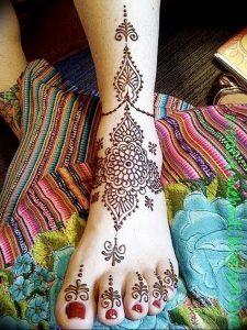 фото Мехенди на ноге от 24.10.2017 №019 - Mehendi on foot - tattoo-photo.ru