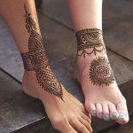 фото Мехенди на ноге от 24.10.2017 №024 - Mehendi on foot - tattoo-photo.ru
