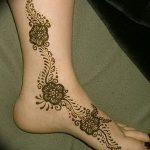 фото Мехенди на ноге от 24.10.2017 №025 - Mehendi on foot - tattoo-photo.ru