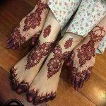 фото Мехенди на ноге от 24.10.2017 №026 - Mehendi on foot - tattoo-photo.ru