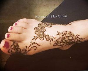 фото Мехенди на ноге от 24.10.2017 №028 - Mehendi on foot - tattoo-photo.ru