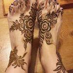 фото Мехенди на ноге от 24.10.2017 №029 - Mehendi on foot - tattoo-photo.ru