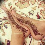 фото Мехенди на ноге от 24.10.2017 №033 - Mehendi on foot - tattoo-photo.ru