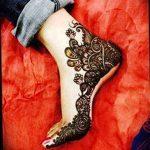 фото Мехенди на ноге от 24.10.2017 №034 - Mehendi on foot - tattoo-photo.ru