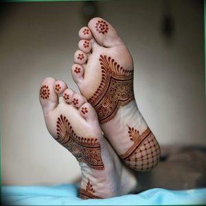 фото Мехенди на ноге от 24.10.2017 №035 - Mehendi on foot - tattoo-photo.ru