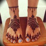 фото Мехенди на ноге от 24.10.2017 №036 - Mehendi on foot - tattoo-photo.ru