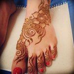 фото Мехенди на ноге от 24.10.2017 №038 - Mehendi on foot - tattoo-photo.ru
