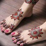 фото Мехенди на ноге от 24.10.2017 №039 - Mehendi on foot - tattoo-photo.ru