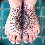 фото Мехенди на ноге от 24.10.2017 №040 - Mehendi on foot - tattoo-photo.ru
