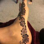 фото Мехенди на ноге от 24.10.2017 №042 - Mehendi on foot - tattoo-photo.ru