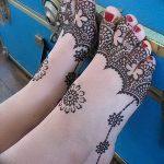 фото Мехенди на ноге от 24.10.2017 №043 - Mehendi on foot - tattoo-photo.ru
