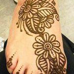 фото Мехенди на ноге от 24.10.2017 №046 - Mehendi on foot - tattoo-photo.ru