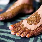фото Мехенди на ноге от 24.10.2017 №047 - Mehendi on foot - tattoo-photo.ru