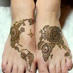 фото Мехенди на ноге от 24.10.2017 №050 - Mehendi on foot - tattoo-photo.ru