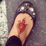 фото Мехенди на ноге от 24.10.2017 №051 - Mehendi on foot - tattoo-photo.ru