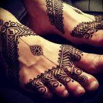 фото Мехенди на ноге от 24.10.2017 №052 - Mehendi on foot - tattoo-photo.ru