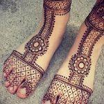 фото Мехенди на ноге от 24.10.2017 №056 - Mehendi on foot - tattoo-photo.ru