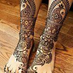 фото Мехенди на ноге от 24.10.2017 №058 - Mehendi on foot - tattoo-photo.ru