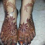 фото Мехенди на ноге от 24.10.2017 №061 - Mehendi on foot - tattoo-photo.ru