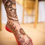 фото Мехенди на ноге от 24.10.2017 №063 - Mehendi on foot - tattoo-photo.ru