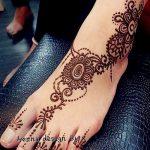 фото Мехенди на ноге от 24.10.2017 №064 - Mehendi on foot - tattoo-photo.ru