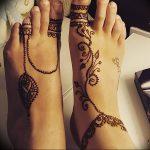 фото Мехенди на ноге от 24.10.2017 №065 - Mehendi on foot - tattoo-photo.ru