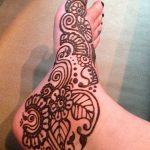 фото Мехенди на ноге от 24.10.2017 №069 - Mehendi on foot - tattoo-photo.ru