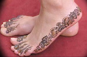 фото Мехенди на ноге от 24.10.2017 №076 - Mehendi on foot - tattoo-photo.ru