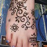 фото Мехенди на ноге от 24.10.2017 №081 - Mehendi on foot - tattoo-photo.ru
