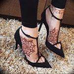 фото Мехенди на ноге от 24.10.2017 №085 - Mehendi on foot - tattoo-photo.ru