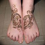 фото Мехенди на ноге от 24.10.2017 №086 - Mehendi on foot - tattoo-photo.ru