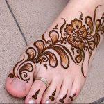 фото Мехенди на ноге от 24.10.2017 №087 - Mehendi on foot - tattoo-photo.ru