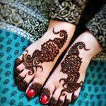 фото Мехенди на ноге от 24.10.2017 №088 - Mehendi on foot - tattoo-photo.ru