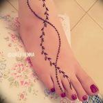 фото Мехенди на ноге от 24.10.2017 №093 - Mehendi on foot - tattoo-photo.ru
